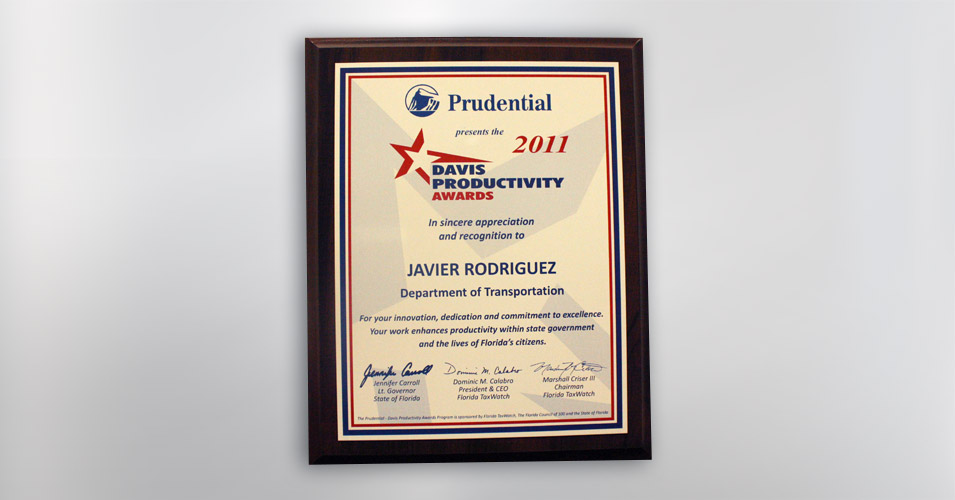 2011 Prudential Productivity Award Javier Rodriguez