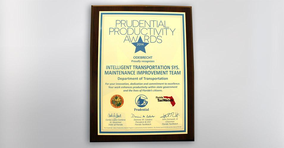 2014 Prudential Productivity Award Intelligent Transportation Syst Maintenance Improvement Team