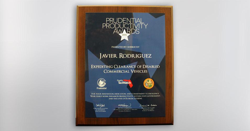 2015 Prudential Productivity Award Heavy Duty Wrecker