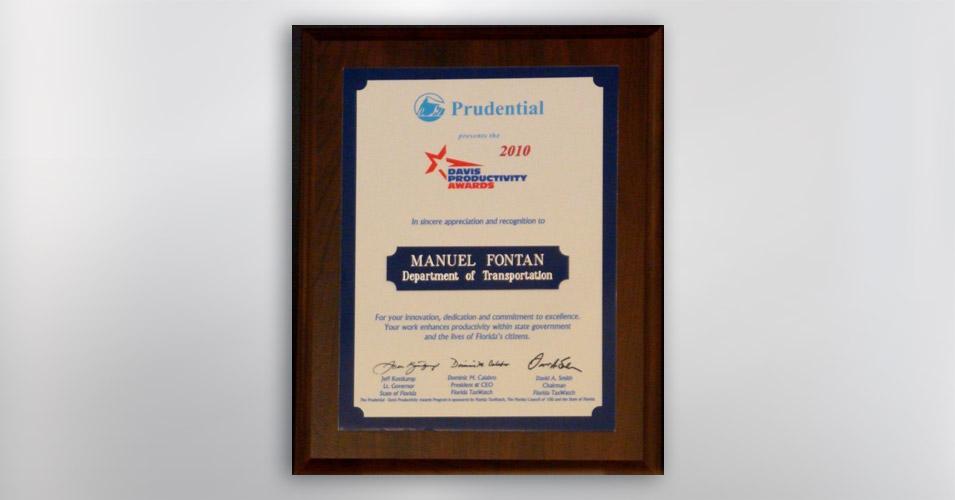 Davis Productivity Individual Award