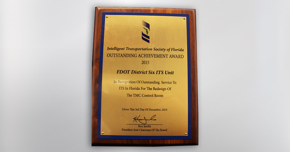 District Six Wins 2015 ITS Florida Outstanding Achievement