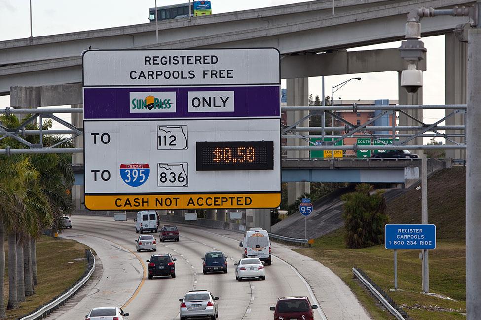 Express lane sign