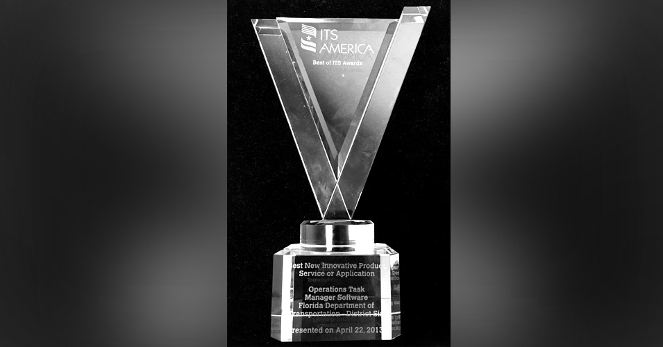 FDOT D6 Wins National ITS Award for Operations Task Manager Software