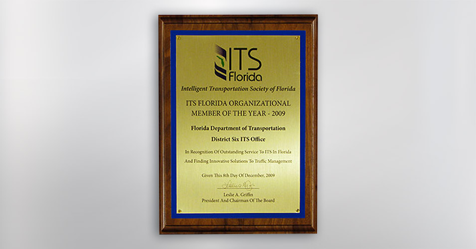 ITS Florida Organizational Member of the Year Award