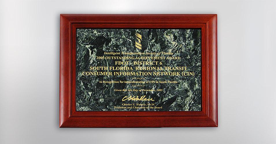ITS Florida Outstanding Achievement Award 2005