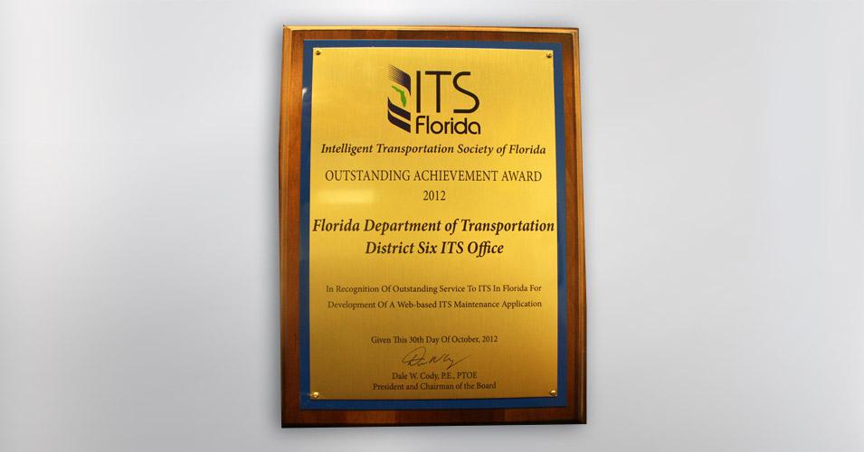 ITS Florida Outstanding Achievement Award ITS Maintenance Module