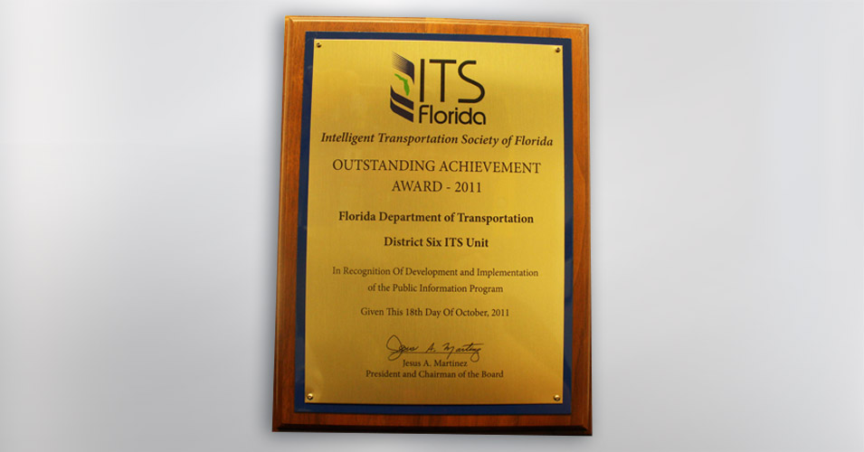 ITS Florida Outstanding Achievement Award Public Information