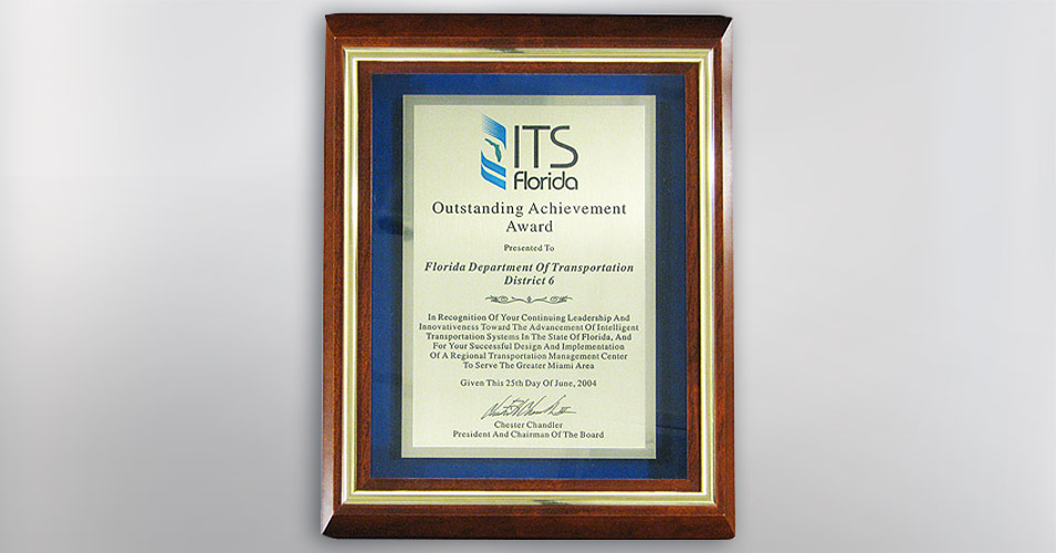ITS Florida Outstanding Achievement Award