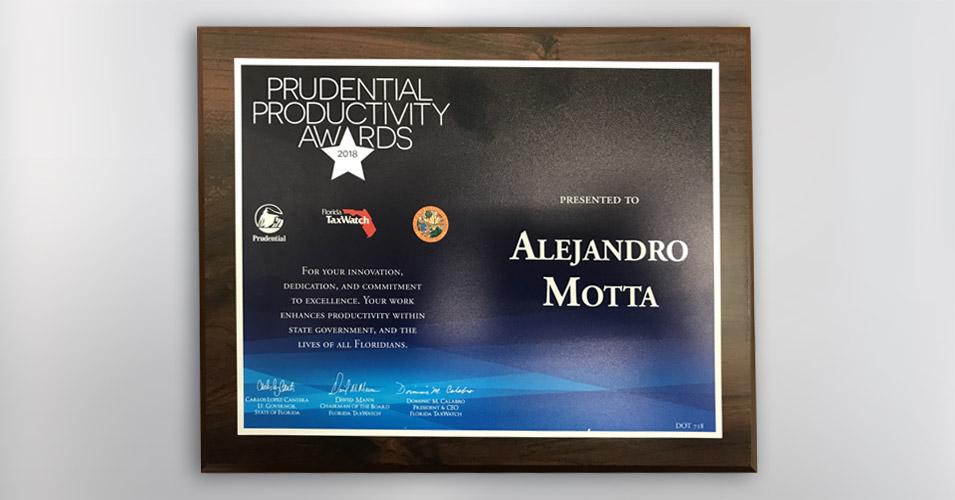 Prudential Productivity Award - Alejandro Motta