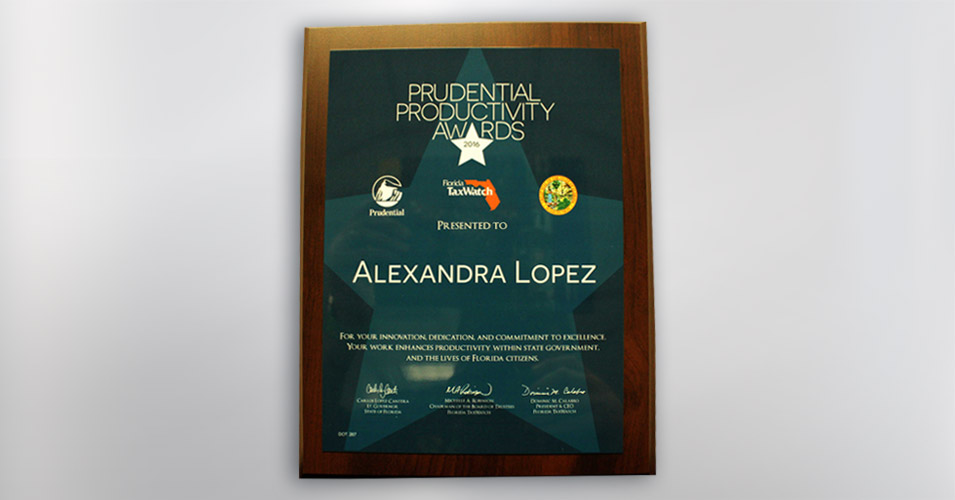 Prudential Productivity Award - Alexandra Lopez