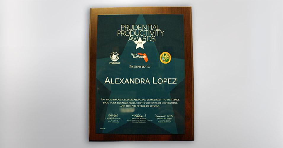 Prudential Productivity Award - Alexandra Lopez