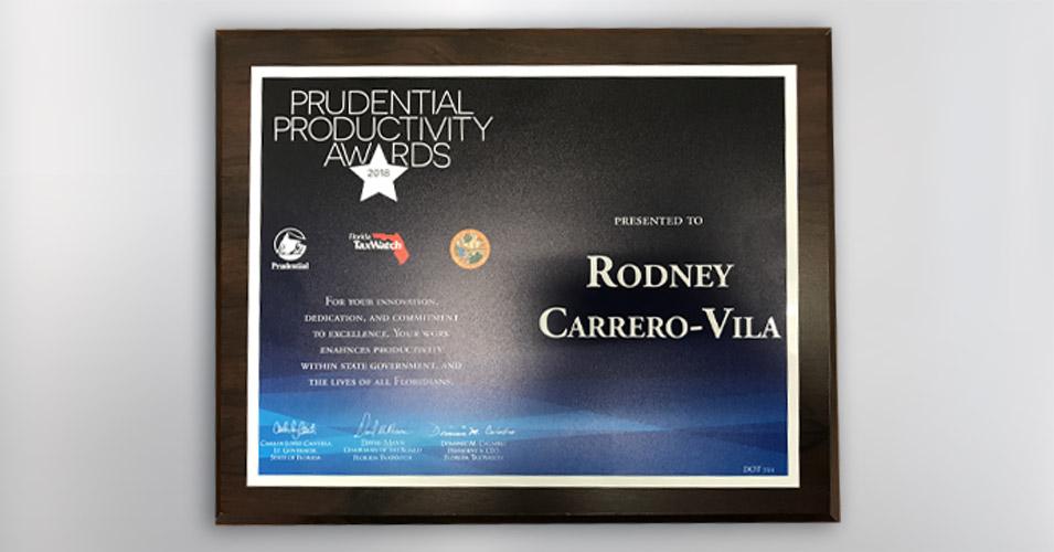 Prudential Productivity Award - Rodney Carrero-Vila