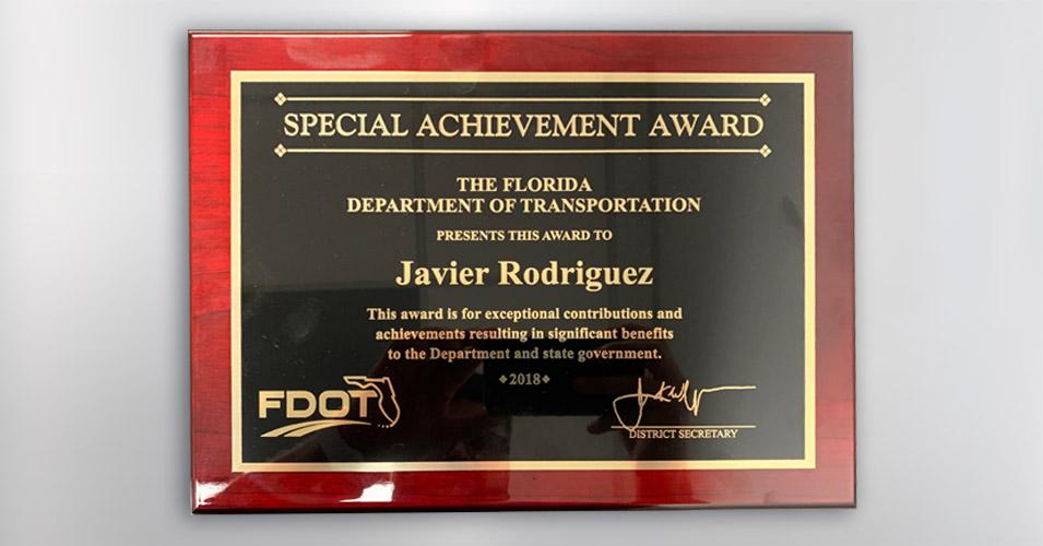 2018 Special Achievement Award - Javier Rodriguez